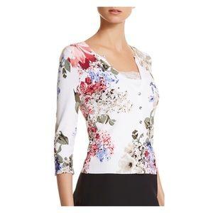 White House Black Market floral print cardigan S
